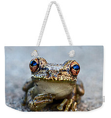 Pondering Frog Weekender Tote Bag by Laura Fasulo