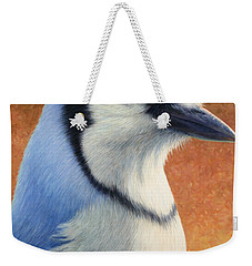 Portrait Of A Bluejay Weekender Tote Bag by James W Johnson