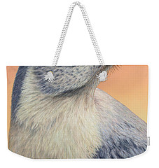 Portrait Of A Mockingbird Weekender Tote Bag by James W Johnson