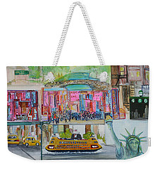 Postcards From New York City Weekender Tote Bag by Jack Diamond