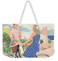 Poster Advertising Bermuda Weekender Tote Bag by Adolph Treidler