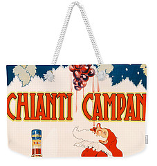 Poster Advertising Chianti Campani Weekender Tote Bag by Necchi