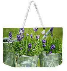 Pots Of Lavender Weekender Tote Bag by Amanda Elwell