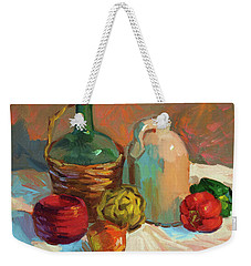Pottery And Vegetables Weekender Tote Bag by Diane McClary