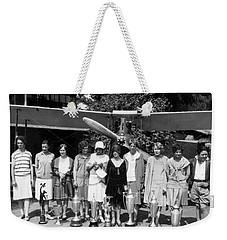 Powderpuff Derby Aviatrix Weekender Tote Bag by Underwood Archives