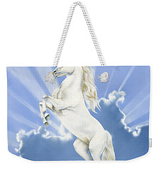 Prancing Unicorn Weekender Tote Bag by Irvine Peacock