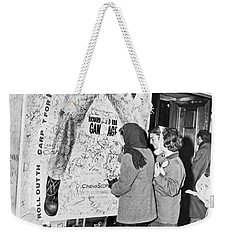 Presley Poster Grafitti Weekender Tote Bag by Underwood Archives