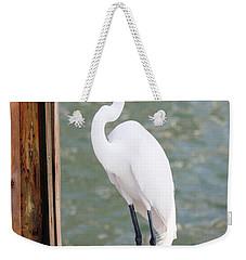 Pretty Great Egret Weekender Tote Bag by Carol Groenen