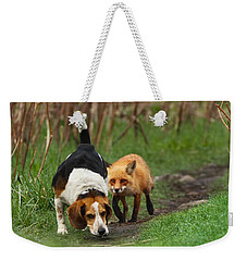 Probably The World's Worst Hunting Dog Weekender Tote Bag by Mircea Costina Photography