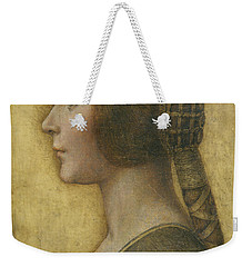 Profile Of A Young Fiancee Weekender Tote Bag by Leonardo Da Vinci