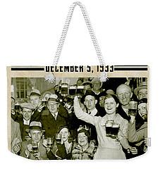 Prohibition Ends Celebrate Weekender Tote Bag by Jon Neidert
