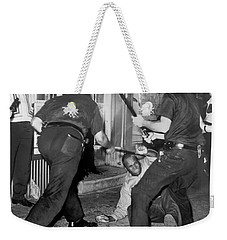 Protester Clubbed In Harlem Weekender Tote Bag by Underwood Archives