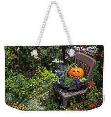 Pumpkin In Basket On Chair Weekender Tote Bag by Garry Gay