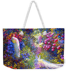 White Peacocks, Pure Bliss Weekender Tote Bag by Jane Small