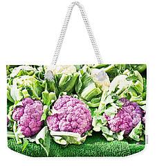 Purple Cauliflower Weekender Tote Bag by Tom Gowanlock