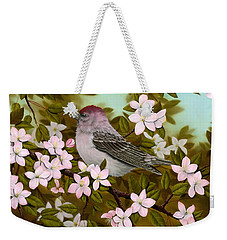 Purple Finch Weekender Tote Bag by Rick Bainbridge