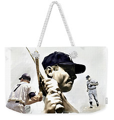 Quality Of Greatness Mickey Mantle Weekender Tote Bag by Iconic Images Art Gallery David Pucciarelli