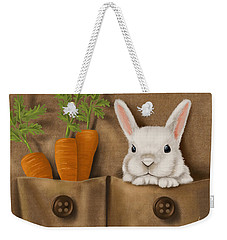 Rabbit Hole Weekender Tote Bag by Veronica Minozzi