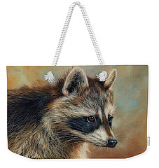 Raccoon Weekender Tote Bag by David Stribbling