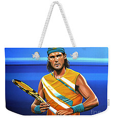 Rafael Nadal Weekender Tote Bag by Paul Meijering