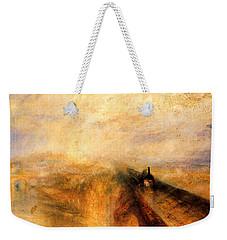 Rain Steam And Speed.  Weekender Tote Bag by J M W Turner