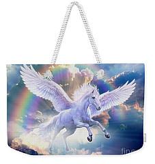 Rainbow Pegasus Weekender Tote Bag by Jan Patrik Krasny
