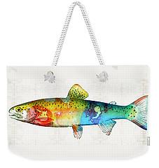 Rainbow Trout Art By Sharon Cummings Weekender Tote Bag by Sharon Cummings