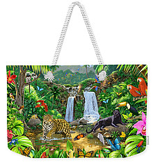 Rainforest Harmony Variant 1 Weekender Tote Bag by Chris Heitt