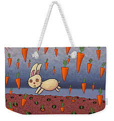 Raining Carrots Weekender Tote Bag by James W Johnson