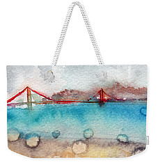 Rainy Day In San Francisco  Weekender Tote Bag by Linda Woods