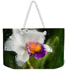 Rainy Day Orchid - Botanical Art By Sharon Cummings Weekender Tote Bag by Sharon Cummings