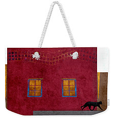 Raven And Cat Weekender Tote Bag by Carol Leigh