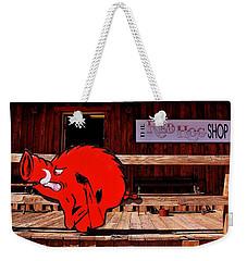 Razorback Country Weekender Tote Bag by Benjamin Yeager