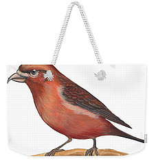 Red Crossbill Weekender Tote Bag by Anonymous