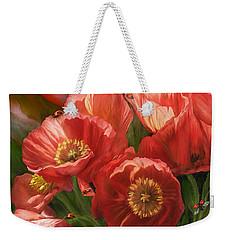 Red Ladies Of Summer Weekender Tote Bag by Carol Cavalaris