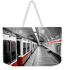Red Line Weekender Tote Bag by Charles Dobbs
