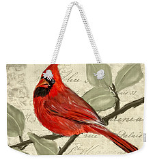 Red Melody Weekender Tote Bag by Lourry Legarde