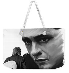 Redemption Jonny Cash Weekender Tote Bag by Iconic Images Art Gallery David Pucciarelli