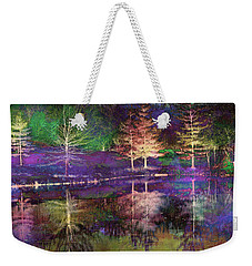 Reflections In Technicolor Weekender Tote Bag by Suzanne Stout