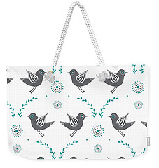 Repeat Lovebird Weekender Tote Bag by Susan Claire