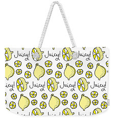 Repeat Prtin - Juicy Lemon Weekender Tote Bag by Susan Claire