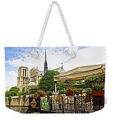 Restaurant On Seine Weekender Tote Bag by Elena Elisseeva