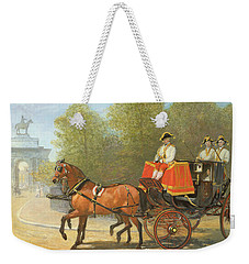 Returning From Her Majestys Drawing Room Weekender Tote Bag by Alfred Corbould