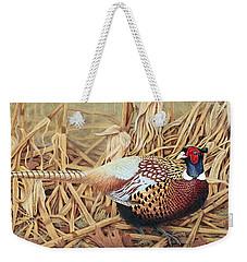 Ring-necked Pheasant Weekender Tote Bag by Ken Everett