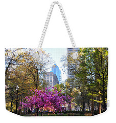 Rittenhouse Square In Springtime Weekender Tote Bag by Bill Cannon