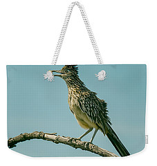 Roadrunner Out On A Limb Weekender Tote Bag by Robert Frederick