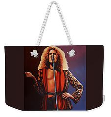 Robert Plant Of Led Zeppelin Weekender Tote Bag by Paul Meijering