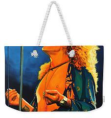 Robert Plant Weekender Tote Bag by Paul Meijering