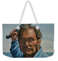 Robert Shaw In Jaws Weekender Tote Bag by Paul Meijering