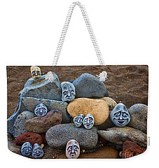 Rocky Faces In The Sand Weekender Tote Bag by David Smith